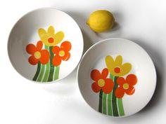 2 soup bowls Figgjo Annemarie pattern Kirsten by HuntersKitchen