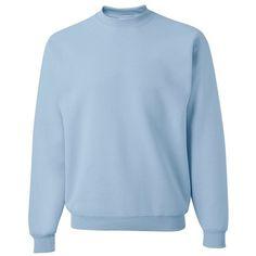 Jerzees 562MR NuBlend Crewneck Sweatshirt ($5.70) ❤ liked on Polyvore featuring tops, hoodies, sweatshirts, blue crew neck sweatshirt, jerzee sweatshirt, crew-neck tops, crew neck top and blue sweatshirt