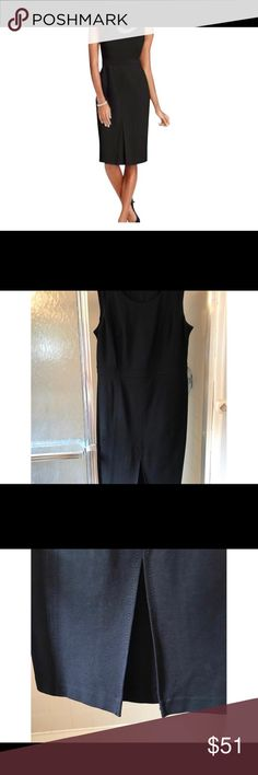 03e274f97ce All Season Stretch Refined Ponte Sheath Dress Talbots Refined Ponte Sheath  Sleeveless New with Tags size 10 Qty  1 black dress Color Black dark..we ...