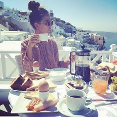 #RobertaMorise Roberta Morise: Buongiorno Santorini ❤️❤️