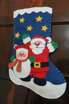 Bota de Natal em feltro Christmas ornaments - felt Apresentado no Mulher.com www.multitecnicas.com.br