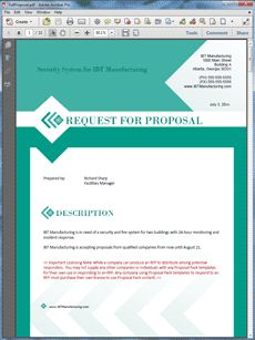 request for proposal rfp sample the request for proposal rfp sample is an example of an original rfp created using proposal pack to request proposal
