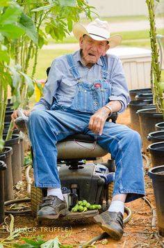 "We love this photo of a ""Texas Veteran in His Okra Garden"" by David Locke of Black Truffle Photography at Locke Design for Locke Design client HMR VSI"