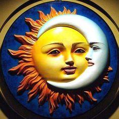 Sun and Moon - Bing Images Sun Moon Stars, Sun And Stars, Art Soleil, You Are My Moon, 3d Fantasy, Sun Art, Marble Art, Sea Monsters, Moon Child