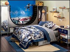 Room decorating ideas on pinterest boy rooms martial for Boxing bedroom ideas