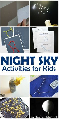 Have fun learning about the moon, space, and stars with these awesome night sky activities and crafts for kids. These space themed ideas are awesome!