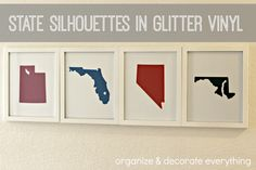 State silhouettes by Organize and Decorate Everything