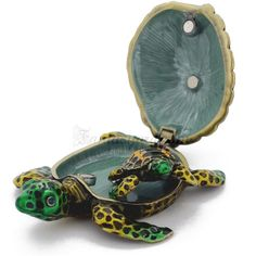 Mother And Baby Sea Turtle Trinket Box