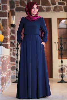 The perfect addition to any Muslimah outfit, shop Amine Hüma's stylish Muslim fashion Powder - Round Collar - Fully Lined - Dresses. Turkish Fashion, Islamic Fashion, Muslim Fashion, Off Shoulder Casual Dress, Sequin Outfit, Stylish Hijab, Mode Abaya, Hijab Fashionista, Hijab Style