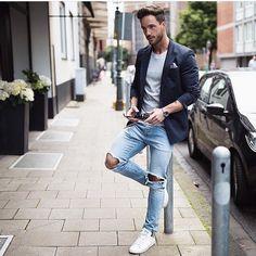 punkmonsieur: Casual mode on Mens Fashion Blazer, Mens Fashion Blog, Look Fashion, Fashion Guide, Daily Fashion, Fashion 2020, Fashion Ideas, Style Costume Homme, Mode Blog