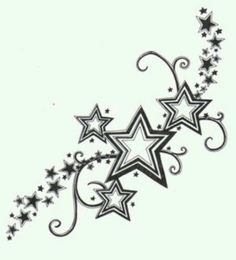 star tattoo - then incorporate the names or birthdates of my babies in the big stars???