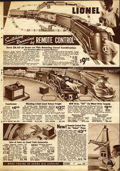 Vintage Lionel Train Set Advertisement (1937)
