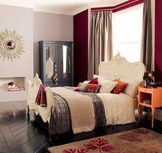 Segundo quarto: gostei da cor da parede da esquerda: Coral Rosa Muralha