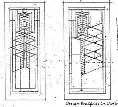 Robie house art glass design (Frank Lloyd Wright)