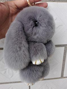 Wonder Zoo | Cute fluffy bunnies rabbits small charm keychain phone ch | Feltify