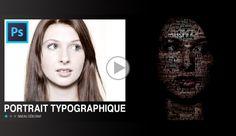 Portrait Typographique - Tuto Photoshop en Français