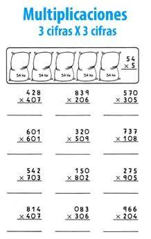 Multiplicación de 3 cifras por 3 cifras