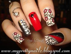 Manicure Makeover! Red Hot Cherry Blossom Mani Revision