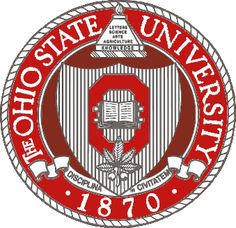 The Ohio State University seal after 1983.  They removed Columbus and replaced it with 1870.