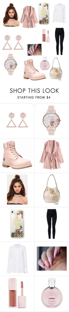 """Annette winter"" by lea-ifrid ❤ liked on Polyvore featuring Olivia Burton, Timberland, Missguided, Gucci, Kate Spade, J Brand, A.L.C., Puma and Chanel"