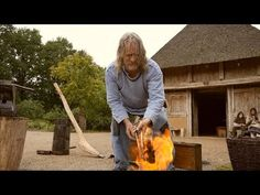 ▶ Medieval Iron Production in Holland Thijs van de Manakker - smelting ore - YouTube