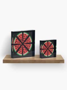 """Watermelon Slices"" Acrylic Block by Pultzar   Redbubble"