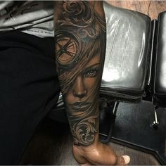 cool Top 100 black and grey tattoos - http://4develop.com.ua/top-100-black-and-grey-tattoos/ Check more at http://4develop.com.ua/top-100-black-and-grey-tattoos/