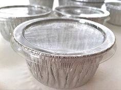 100 Aluminum Foil Muffin Cupcake Ramekin 4oz Cups with Lids Disposable -- Huge discounts available now! : Baking essentials