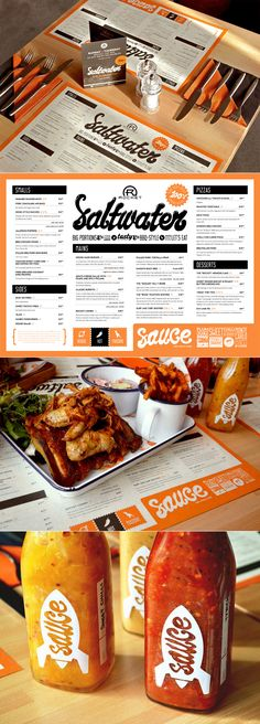 This nifty little menu actually doubles as a placemat. Appropriate considering that messy chicken wings seem to be their signature dish. Designed by Makermet: http://www.makermet.com/ #designisvital http://www.paliosdesign.com