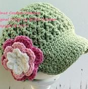 Textured Newsboy Crochet Hat - via @Craftsy