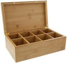 Amazon.com: Tea Box - Compartment Chest- 10 X 6.5 Inches: Kitchen & Dining