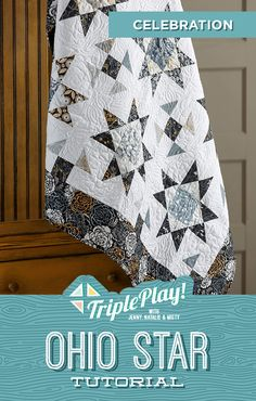 The Doan girls are back for another Triple Play! This week they're stitching up three new designs using the classic Ohio Star quilt block! Follow the link below to watch the free quilting tutorial Triple Play now! #MissouriStarQuiltCo #MSQC #JennyDoan #OhioStar #TriplePlay #TriplePlayOhioStar #QuiltTutorial #QuiltPattern #Quilting #Quilt #HowToQuilt #QuiltBlock #StarAesthetic #CharmPackQuilt #Sewing #FabricCrafts #Makers #MistyDoan #StarQuilt #OhioStarQuilt #BeginnerQuilt Missouri Quilt Tutorials, Quilting Tutorials, Quilting Projects, Quilting Designs, Msqc Tutorials, Star Quilt Blocks, Star Quilts, Easy Quilts, Cute Sewing Projects
