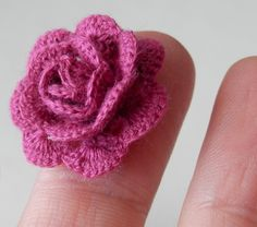 Miniature crochet rose by KatiCrafts