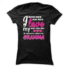 How Much Love Of GRAMMA T-Shirt - #monogrammed sweatshirt #striped sweater. CHECK PRICE => https://www.sunfrog.com/Funny/How-Much-Love-Of-GRAMMA-T-Shirt-Ladies.html?68278