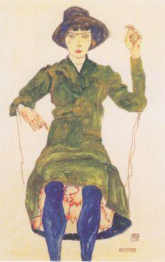 Egon Schiele - Die Dirne - 1913