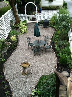 Yard, small balcony, giant terrace or backyard, every exterior deserves structure and a pleasant decor. Immediately we have an interest within the yard and methods to … Small Yard Landscaping, Gravel Landscaping, Front Yard Patio, Backyard Patio, Backyard Playground, Porch, Pea Gravel Garden, Garden Yard Ideas, Patio Ideas