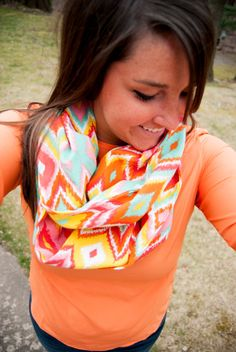 Bright and Beautiful Diamond Infinity Scarf by DesiringJoy on Etsy