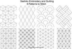 Inspirações geométricas, risco bordado