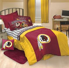 Redskins Bedroom Decor | NFL Washington Redskins Bed Set   Twin Redskins Bedding  Set