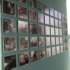 fotocollage aan de muur Polaroid Collage, Wall Of Fame, Inspiration Wall, Diys, Photo Wall, Memories, Frame, Collages, Design