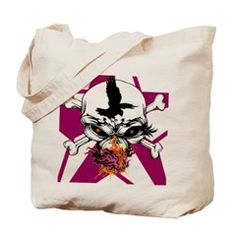 Wicked Gypsy Skull Tote Bag> Tote Bags> Eve's Underground