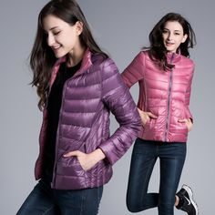 Cheap jacket down, Buy Quality jacket warm directly from China jacket jacket Suppliers: FURANDOWN Winter Womens Two Side White Duck Down Jacket Warm Winter Coats Parkas Lightweight Down Jackets Winter Coats Women, Coats For Women, Jackets For Women, Clothes For Women, Ladies Jackets, Winter Jackets, Down Parka, Down Coat, Duvet