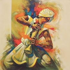 An online art gallery offering the best range of indian art online. Choose to buy from paintings, prints, artworks and more by renowned artists. Indian Folk Art, Indian Artist, Rajasthani Art, Krishna Art, Shiva Art, Music Painting, Indian Art Paintings, India Art, Bo Bartlett