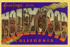 vintage hollywood postcards | vintage_hollywood