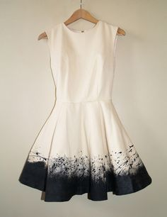 DIY Paint Splatter Dress