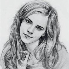 Emma watson by thedrawinghands on deviantart ~ pencil portrait Girl Drawing Sketches, Portrait Sketches, Art Drawings Sketches Simple, Pencil Art Drawings, Pencil Portrait, Funny Drawings, Horse Drawings, Drawing Art, Drawing Ideas
