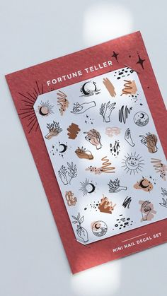 by Odine Nails Fortune Teller, Nail Decals, Contemporary, Nails, Mini, Unique Jewelry, Handmade Gifts, Finger Nails, Kid Craft Gifts