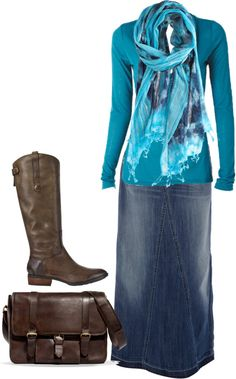 """A little country, a lot modest"" by mommawarren on Polyvore"
