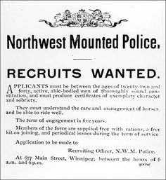 Recruitment posters ran in major newspapers. I Am Canadian, Canadian History, O Canada, Canada Travel, Halifax Explosion, Police Gifts, Mystery Of History, True North, Old Pictures