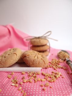 Chestnut and vanilla cookies